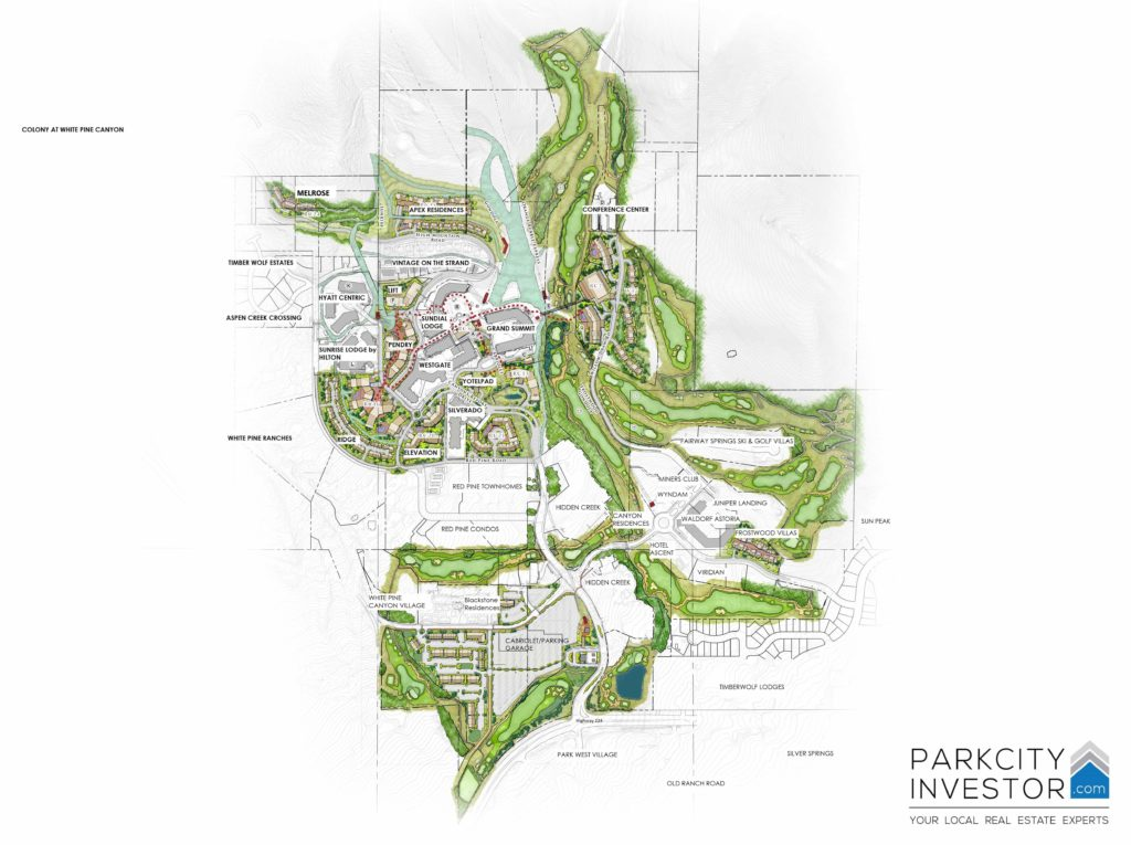 Canyons Golf Course I Canyons Village Real Estate Map ...